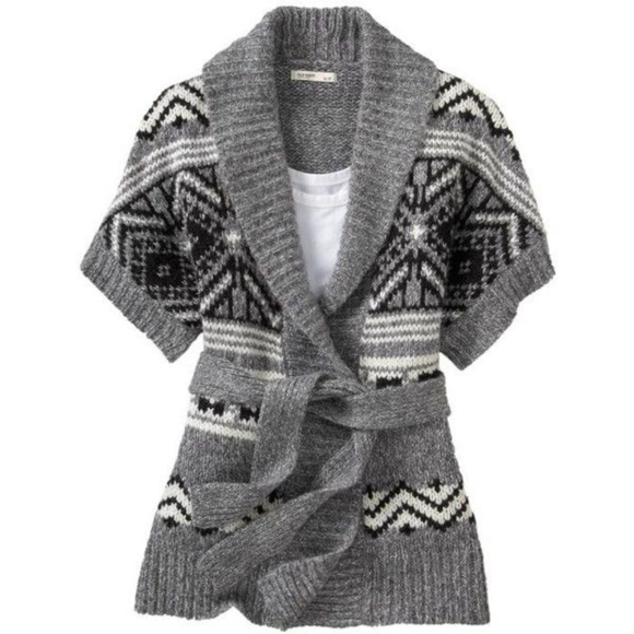 Old Navy - OLD NAVY Fair Isle Tie-Belt Wrap Cardigan [A8] from ...